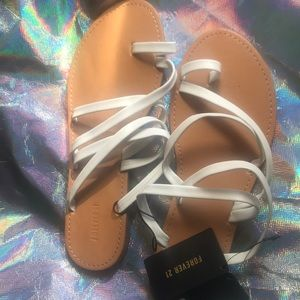 White forever 21 sandals